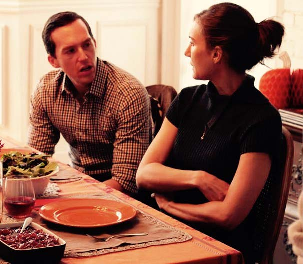 Still from THANKSGIVING with Evelyn Iocolano